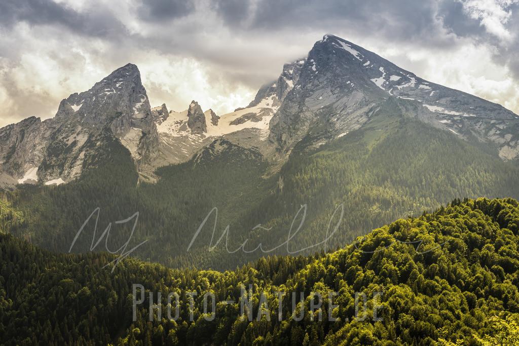 Die Watzmannfamilie | Prächtig liegt die Watzmann-Familie in den Berchtesgadener Alpen