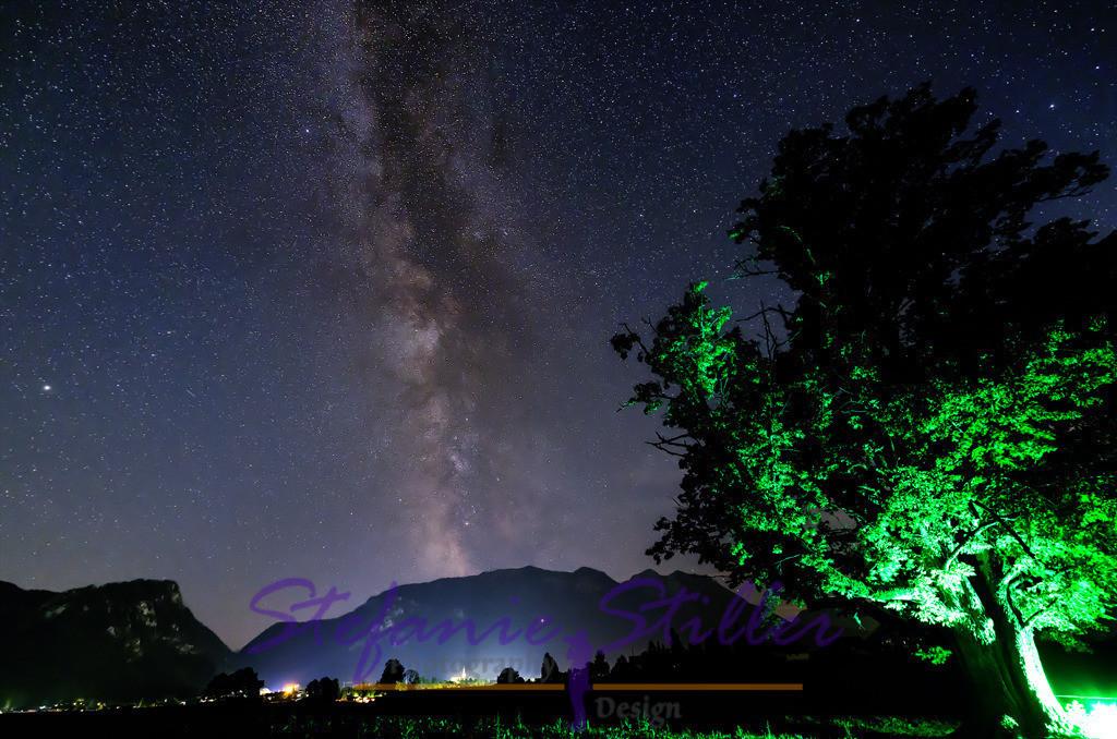 Milky Way over Inzell / Milchstraße über Inzell   Milky Way über Inzell, Rauschberg in the Background / Milchstraße über Inzell, Rauschberg im Hintergrund