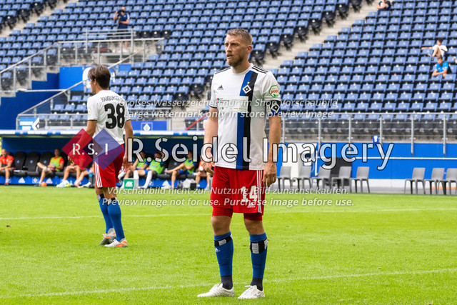 Fußball, Herren, Testspiel, Hamburger SV - FC Hansa Rostock, Volksparkstadion, 09.08.2020 | Aaron Hunt (#14 HSV)
