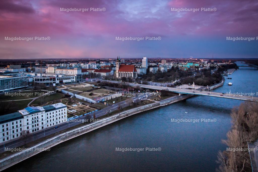 Sonnenuntergang Dom Magdeburg Februar-8459