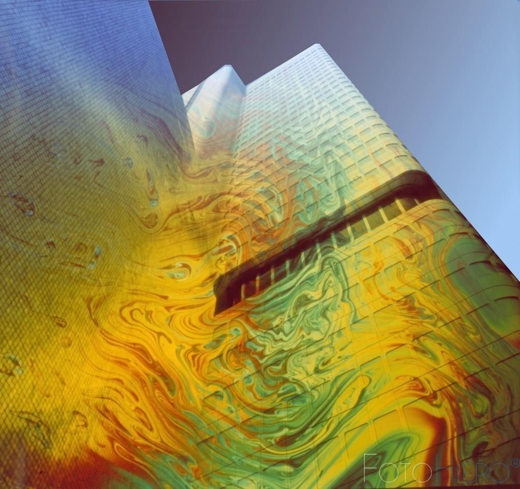 Abstrake Architektur | Abstrake Darstellung der Frankfurter Hochhausarchitektur