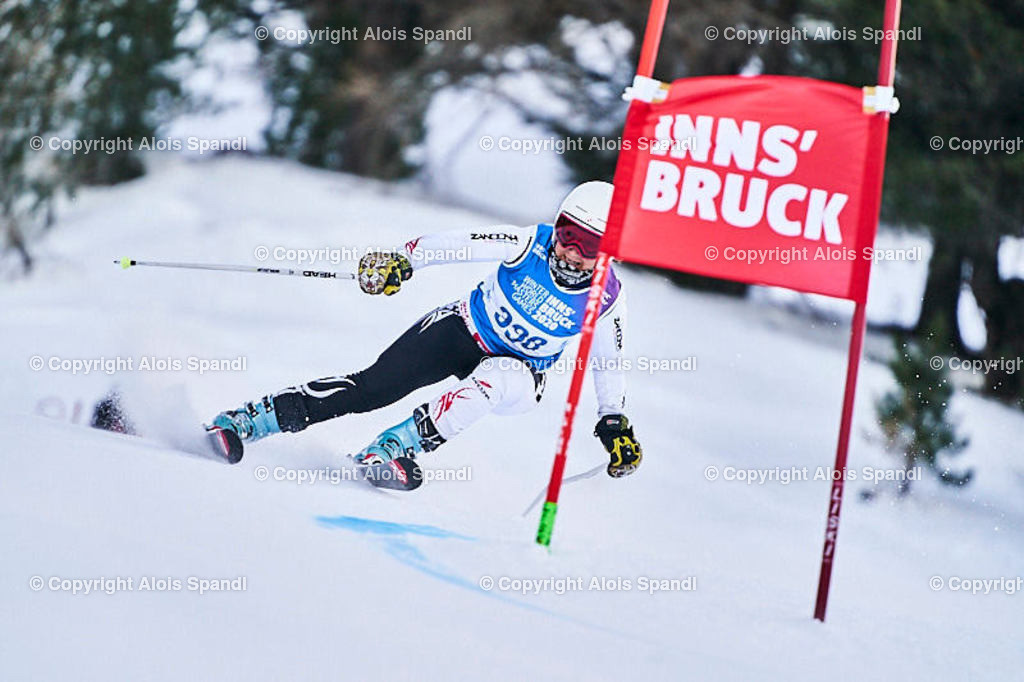 ALS5673_WWMG_GS-II_C | (C) FotoLois.com, Alois Spandl, WinterWorldMastersGames 2020 Innsbruck, Giant Slalom-II Gruppe C Damen, Patscherkofel Olympiaabfahrt, Mi 15. Jänner 2020.
