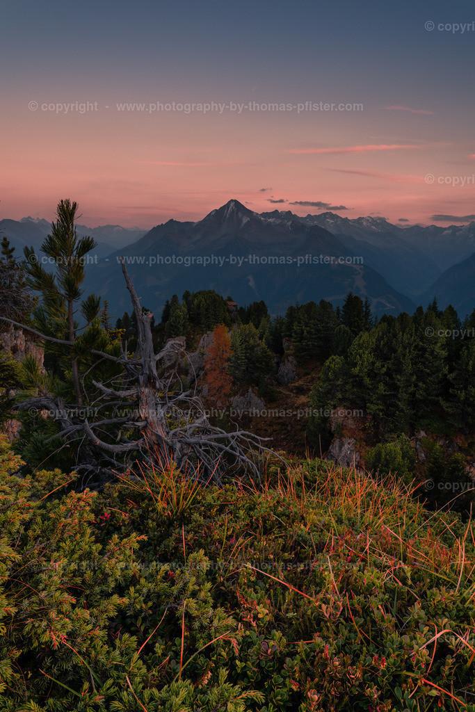 Sonnenuntergang Knorren Penken Ahornspitze-1