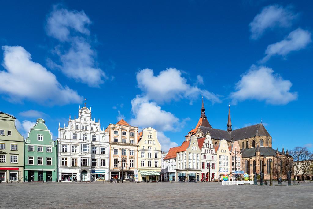 Blick über den Neuen Markt in der Hansestadt Rostock | Blick über den Neuen Markt in der Hansestadt Rostock.