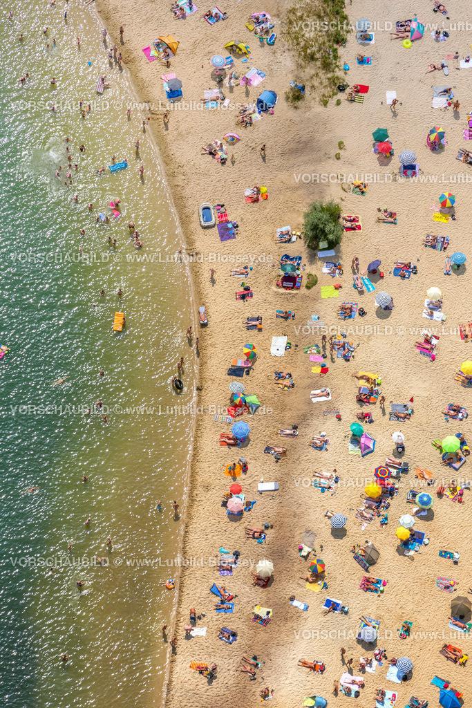 Haltern13081750 | Silbersee II aus der Luft, Sandstrand und türkisfarbenes Wasser, Luftbild von Haltern am See