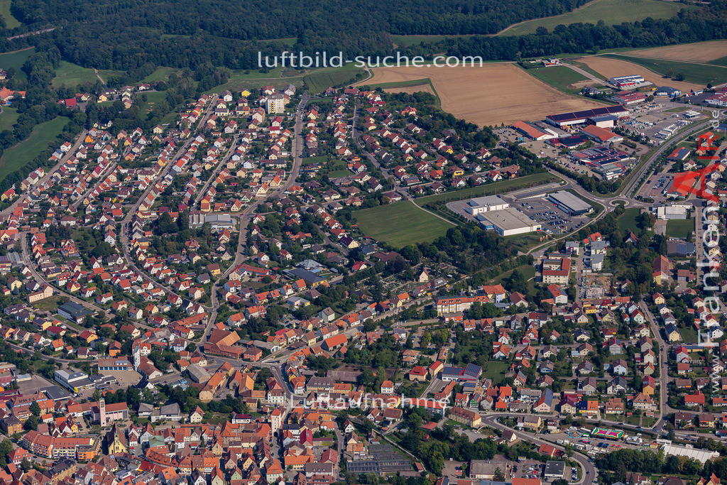 uffenheim-19-732 | aktuelles Luftbild von  Uffenheim - Luftaufnahme wurde 2019 von https://frankenair.de mittels Flugzeug (keine Drohne) erstellt.