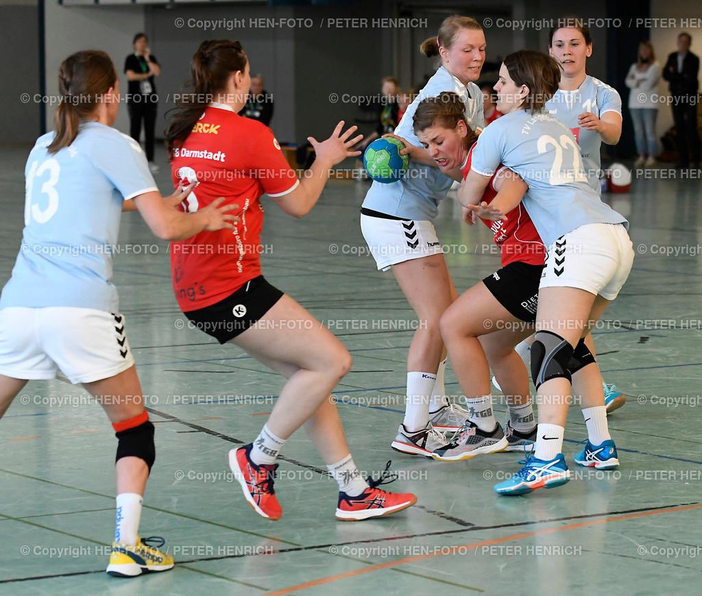 20190406 Handball Frauen Landesliga TGB Darmstadt - TV Langenselbold copyright HEN-FOTO (Peter Henrich) | 20190406 Handball Frauen Landesliga TGB Darmstadt - TV Langenselbold (33:21) v li 13 Svenja Brand (L) 8 Julia Auerhammer (TGB) 28 Katharina Höntsch (L) 15 Leona Weber (TGB) 22 Susanne Schmidt 11 Jessica Pinne (L) copyright HEN-FOTO (Peter Henrich)