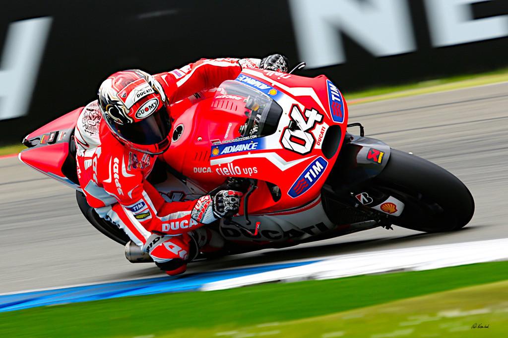 Andrea Dovizioso auf MotoGP Ducati | Andrea Dovizioso fährt für das Ducati MotoGP Team eine Ducati Desmosedici GP14