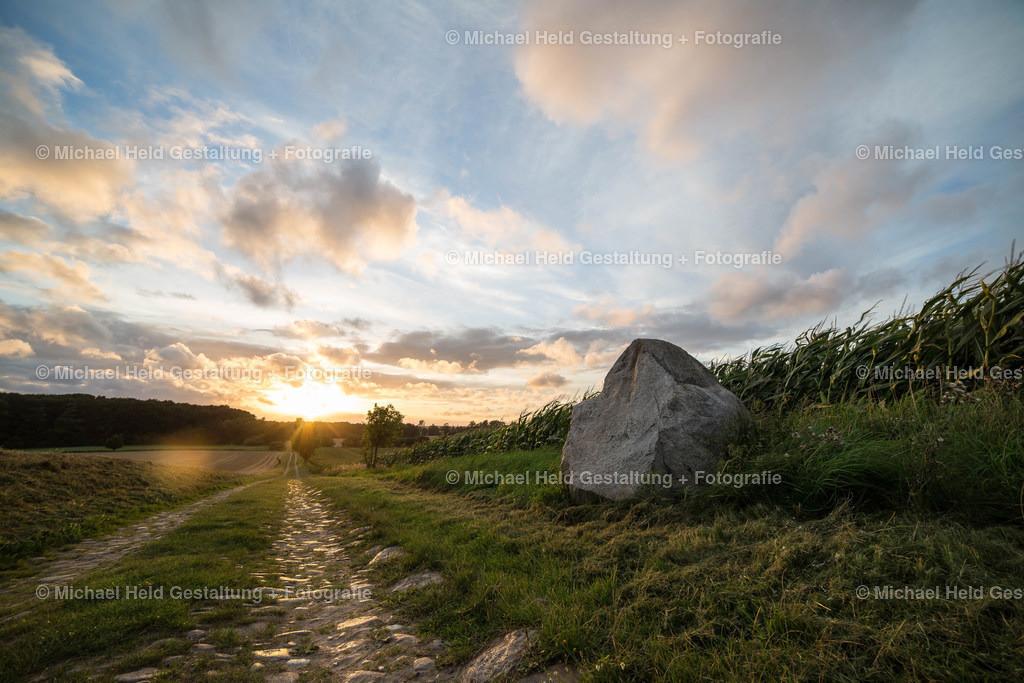 08 August | Feldweg bei Salzau | Sonnenuntergang am Feldweg zwischen Salzau und Charlottental