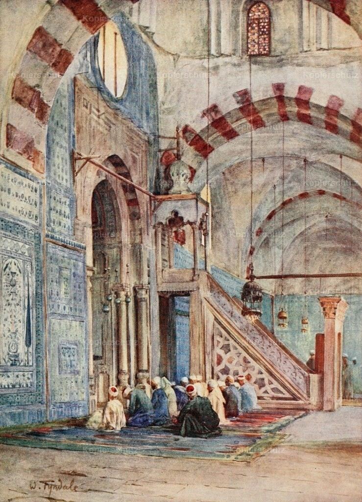 Tyndale_ W. (1855-1943) - Below the Cataracts 1907 - Interior of the Blue Mosque_ Cairo