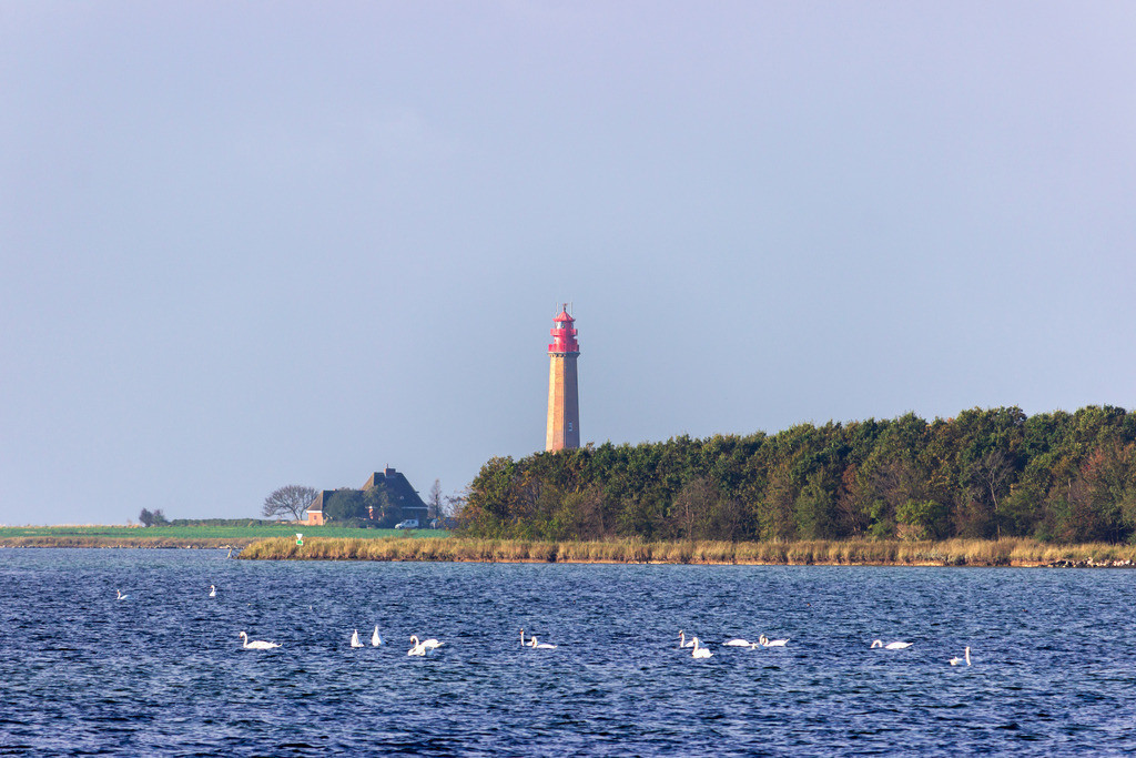 Leuchtturm Flügge auf Fehmarn | Flügger Leuchtturm im Herbst