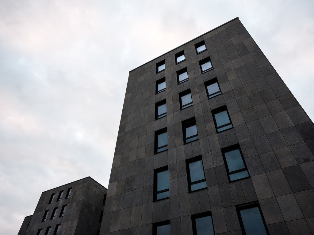 Fassade eines Bürogebäudes | Fassade eines neuen Bürogebäudes an der Herforder Straße in Bielefeld.