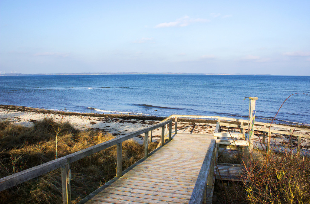 Strand in Grönwohld | Brücke zum Strand in Grönwohld