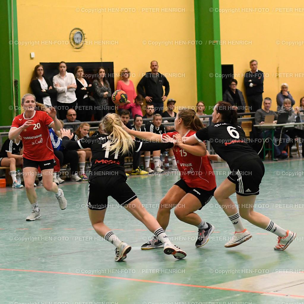 Handball Landesliga Frauen TSV Pfungstadt - TGB Darmstadt (22:30) 20190323 - copyright HEN-FOTO (Peter Henrich)   Handball Landesliga Frauen TSV Pfungstadt - TGB Darmstadt (22:30) 20190323 v li 20 Ricarda Becker (TGB) 11 Celine Meise (TSV) 15Leona Weber (TGB) 6Katharina Schlösser (TSV) copyright HEN-FOTO (Peter Henrich)