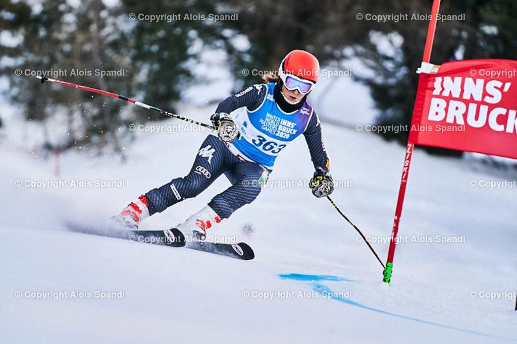 ALS5469_WWMG_GS-II_C   (C) FotoLois.com, Alois Spandl, WinterWorldMastersGames 2020 Innsbruck, Giant Slalom-II Gruppe C Damen, Patscherkofel Olympiaabfahrt, Mi 15. Jänner 2020.