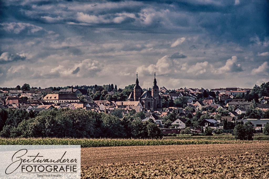 Walldürn Stadtbild | Ortsansicht Walldürn, eine Kleinstadt im Bauland, Deutschland