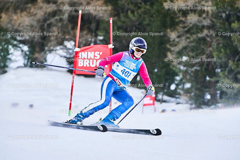 ALS5694_WWMG_GS-II_C | (C) FotoLois.com, Alois Spandl, WinterWorldMastersGames 2020 Innsbruck, Giant Slalom-II Gruppe C Damen, Patscherkofel Olympiaabfahrt, Mi 15. Jänner 2020.