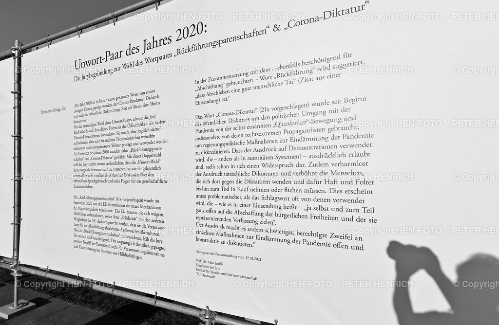 Unwort des Jahres Bilder Ausstellung - copyright by HEN-FOTO | Unwort des Jahres Bilder Ausstellung outdoor vor dem Staatstheater Darmstadt - copyright by HEN-FOTO Peter Henrich