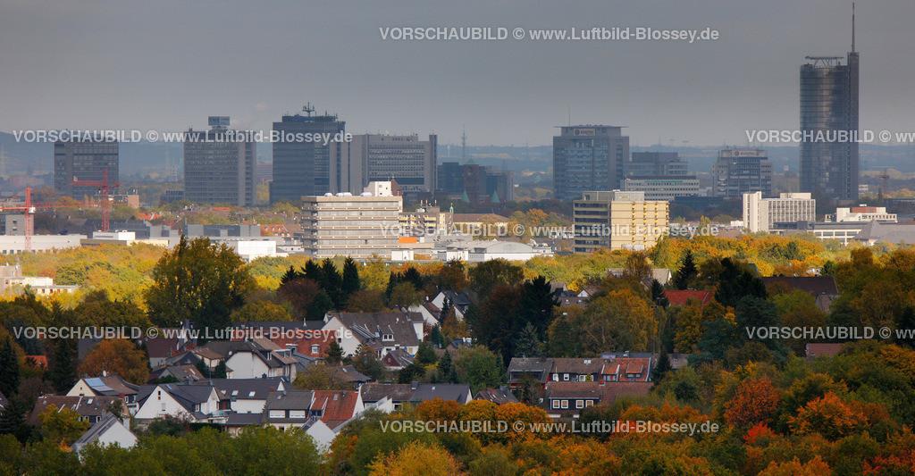 ES10103959 | Skyline von Essen, RWE, Rathaus,  Muelheim an der Ruhr, Ruhrgebiet, North Rhine-Westphalia, Germany, Europa
