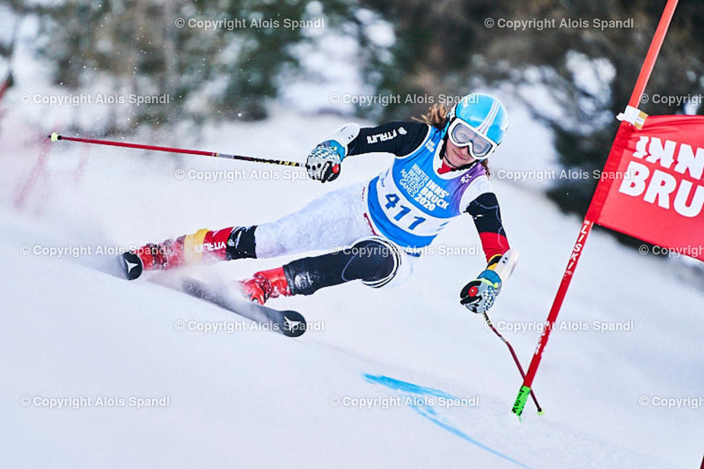 ALS5741_WWMG_GS-II_C | (C) FotoLois.com, Alois Spandl, WinterWorldMastersGames 2020 Innsbruck, Giant Slalom-II Gruppe C Damen, Patscherkofel Olympiaabfahrt, Mi 15. Jänner 2020.