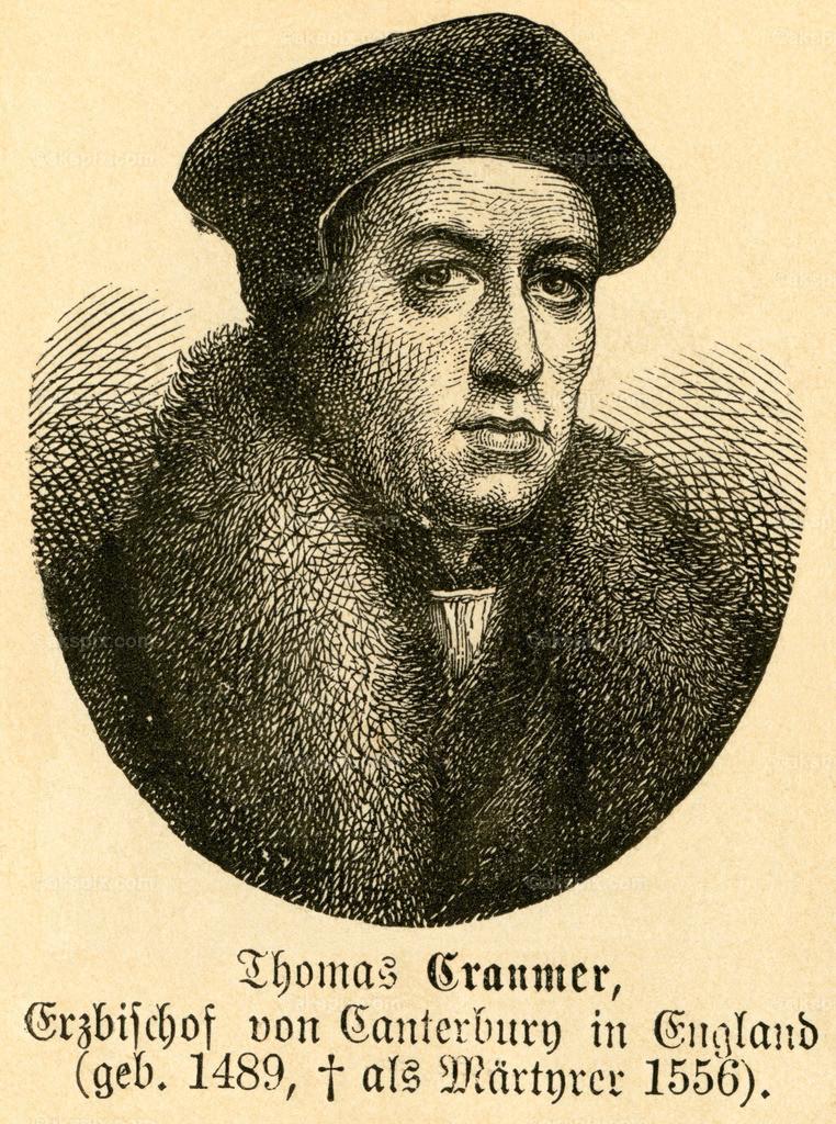 Thomas Cranmer / Thomas Cranmer   Europa, Großbritannien, Nottinghamshire, Aslockton, Thomas Cranmer, Erzbischof von Canterbury, Motiv aus :