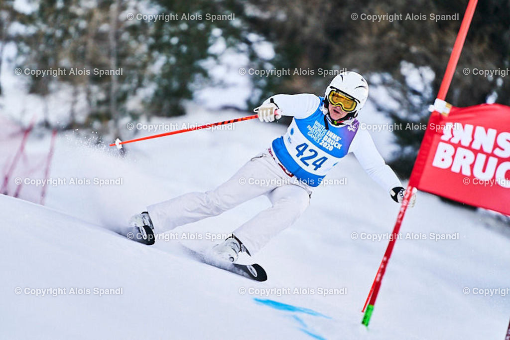 ALS5802_WWMG_GS-II_C | (C) FotoLois.com, Alois Spandl, WinterWorldMastersGames 2020 Innsbruck, Giant Slalom-II Gruppe C Damen, Patscherkofel Olympiaabfahrt, Mi 15. Jänner 2020.
