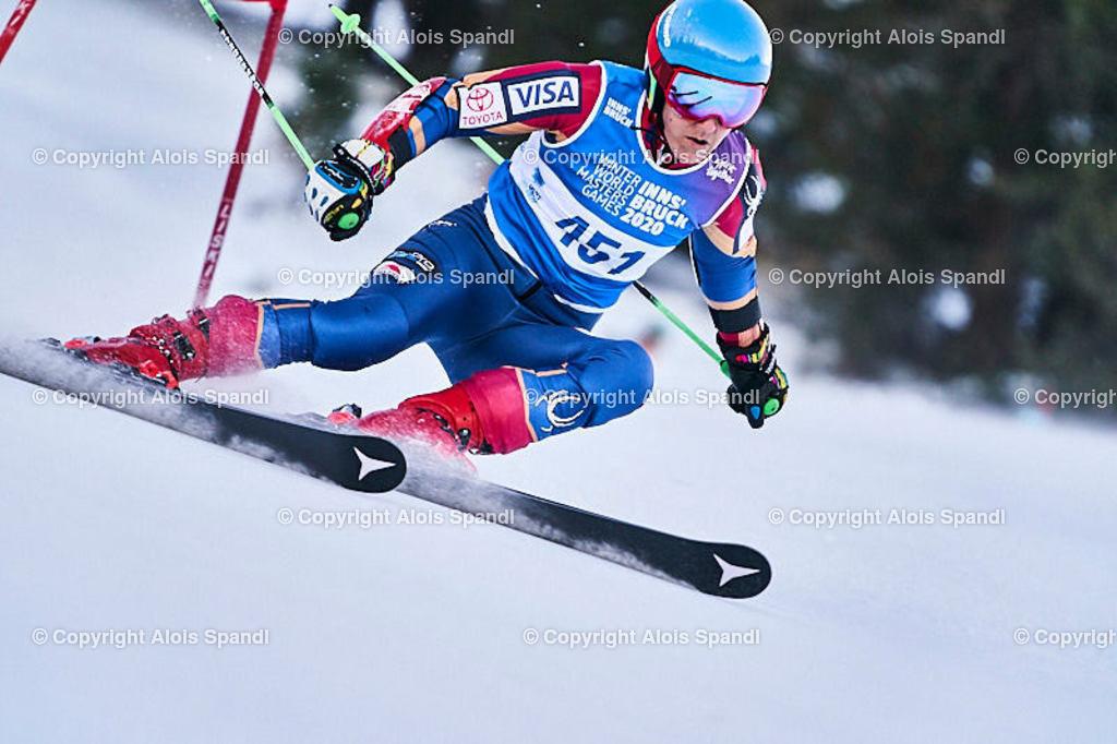 ALS5936_WWMG_GS-II_C | (C) FotoLois.com, Alois Spandl, WinterWorldMastersGames 2020 Innsbruck, Giant Slalom-II Gruppe C Damen, Patscherkofel Olympiaabfahrt, Mi 15. Jänner 2020.