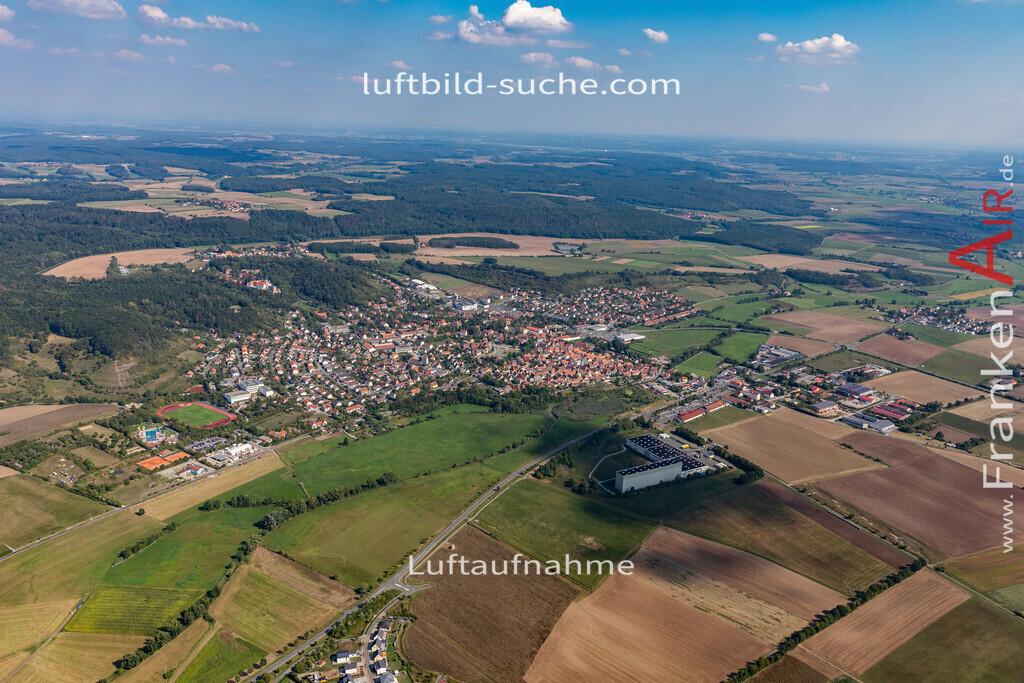 scheinfeld-19-762 | aktuelles Luftbild von  Scheinfeld - Luftaufnahme wurde 2019 von https://frankenair.de mittels Flugzeug (keine Drohne) erstellt.