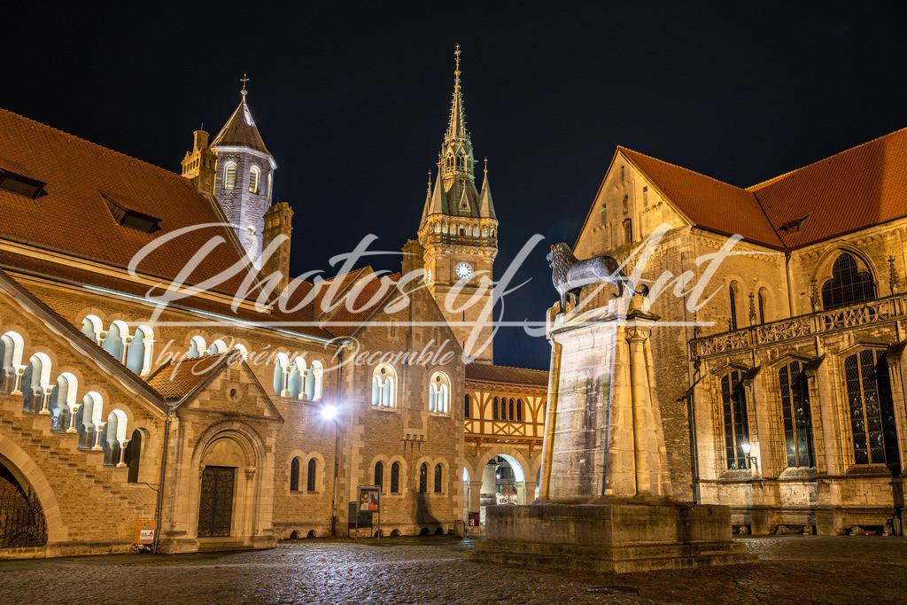 Burgplatz bei Nacht