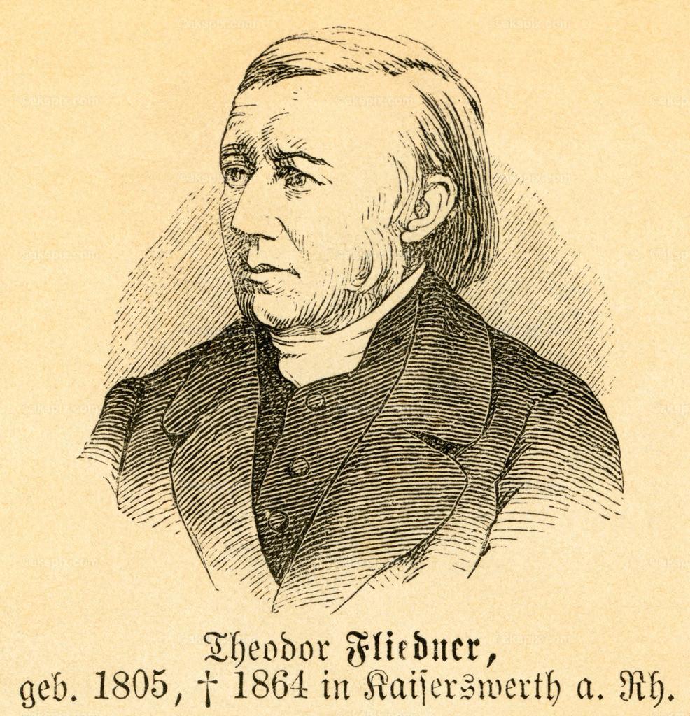Theodor Fliedner / Theodor Fliedner | Europa, Deutschland, Hessen, Eppstein, Theodor Fliedner, evangelischer Theologe und Sozialreformer,  Motiv aus :