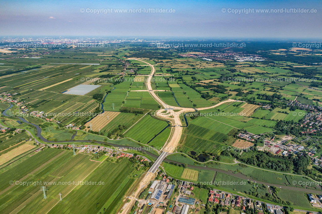 Buxtehude Autobahnbau Bau_ELS_8511300719 | Buxtehude - Aufnahmedatum: 30.07.2019, Aufnahmehöhe: 621 m, Koordinaten: N53°29.320' - E9°41.651', Bildgröße: 7941 x  5294 Pixel - Copyright 2019 by Martin Elsen, Kontakt: Tel.: +49 157 74581206, E-Mail: info@schoenes-foto.de  Schlagwörter:Niedersachsen,Luftbild, Luftbilder, Deutschland