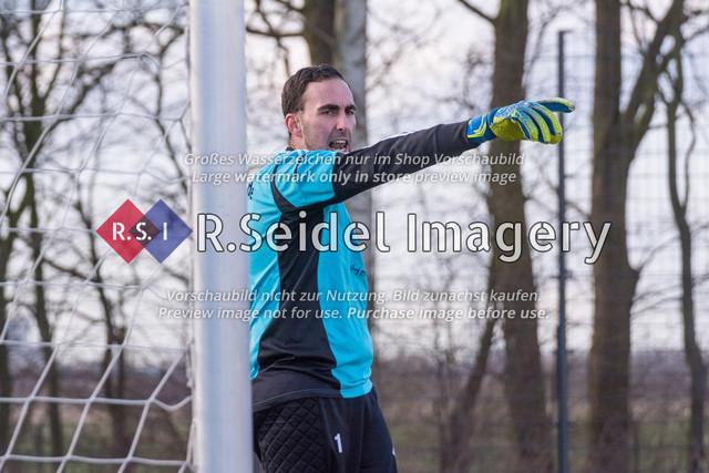Fußball, Herren, Kreisliga 3, ETSV Hamburg II - SC Vier- und Marschlande III., Mittlerer Landweg, 01.03.2020 | Andre Sjuts (#1, SCVM, Torwart)