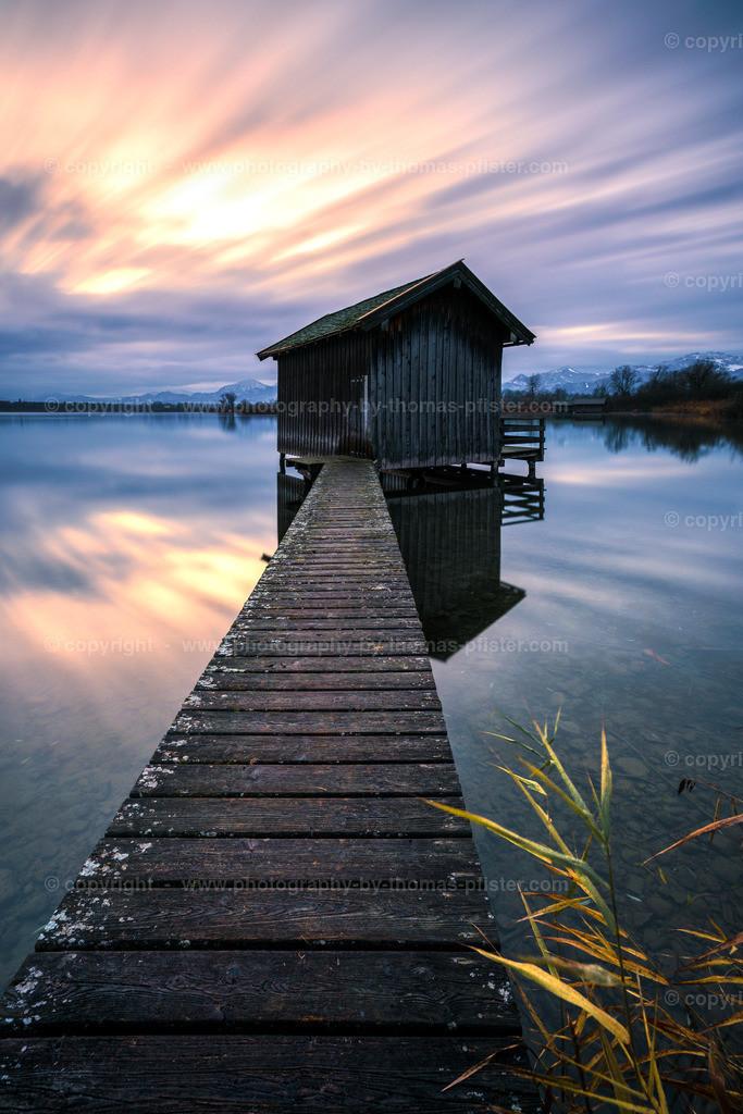 Chiemsee Bootshaus Sonnenaufgang