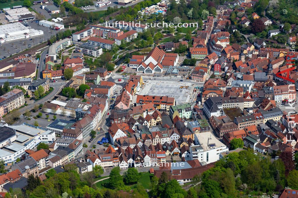 altstadt-kulmbach-18-241 | aktuelles Luftbild von Altstadt Kulmbach - Luftaufnahme wurde 2018 von https://frankenair.de mittels Flugzeug (keine Drohne) erstellt.