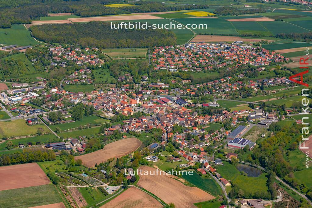 burghaslach-19-219   aktuelles Luftbild von  Burghaslach  - Luftaufnahme wurde 2019 von https://frankenair.de mittels Flugzeug (keine Drohne) erstellt.