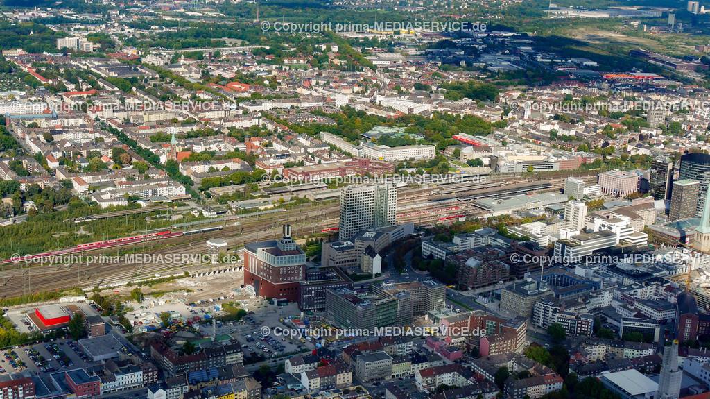 2010-10-01 Luftbilder Dortmund | Deutschland / Nordrhein-Westfalen / Dortmund / Steinerne Brücke / Innenstadt West / U-Turm / HCC Harenberg City Center Foto: Michael Printz / PHOTOZEPPELIN.COM