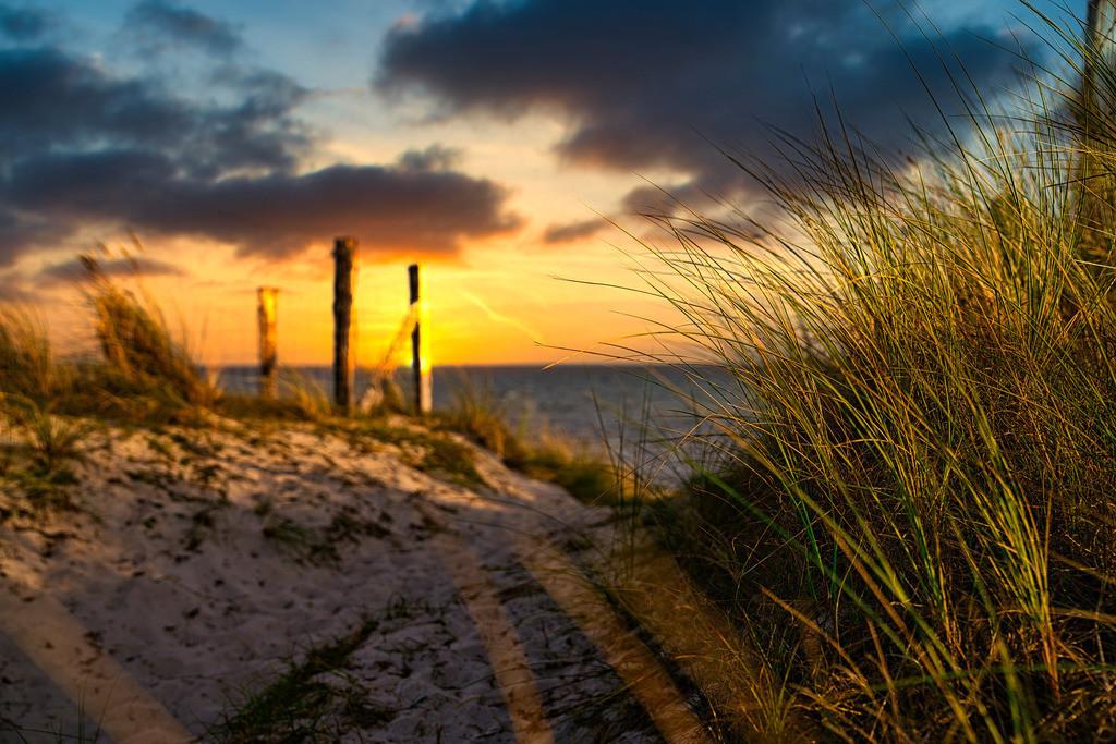 Sonnenuntergang an der Ostsee | Sonnenuntergang in am Grömitzer Strand