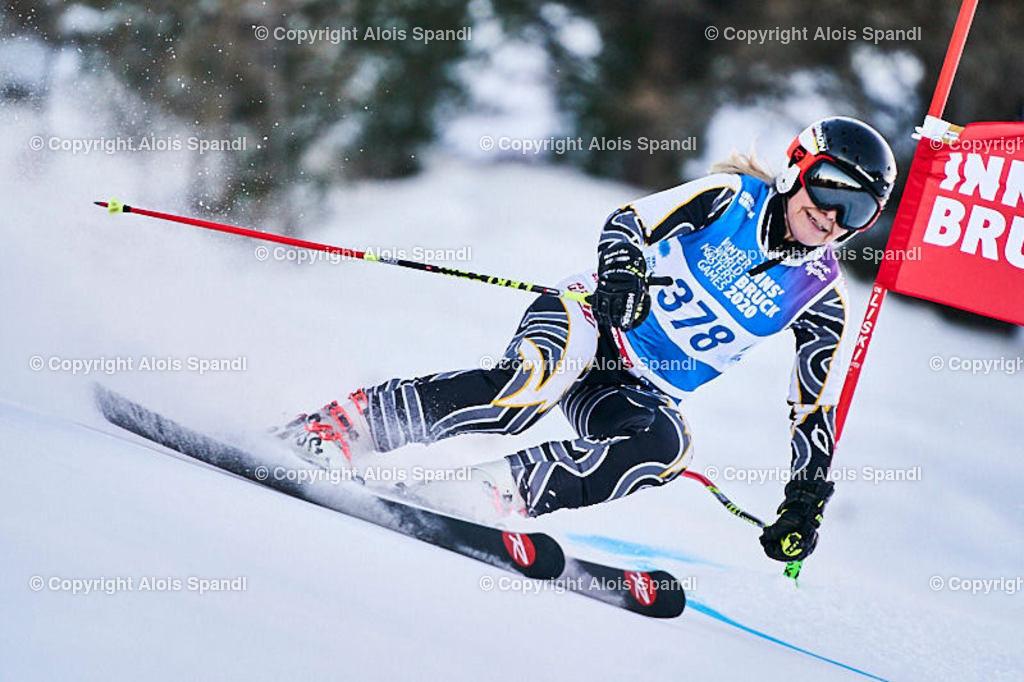 ALS5574_WWMG_GS-II_C | (C) FotoLois.com, Alois Spandl, WinterWorldMastersGames 2020 Innsbruck, Giant Slalom-II Gruppe C Damen, Patscherkofel Olympiaabfahrt, Mi 15. Jänner 2020.