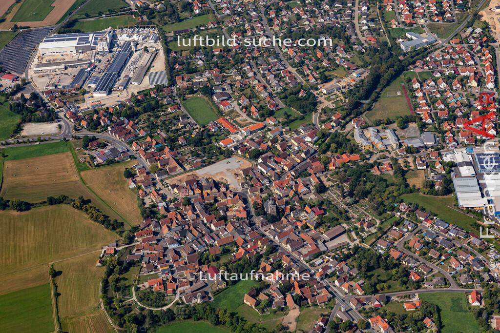 uehlfeld-19-568 | aktuelles Luftbild von Uehlfeld   - Luftaufnahme wurde 2019 von https://frankenair.de mittels Flugzeug (keine Drohne) erstellt.