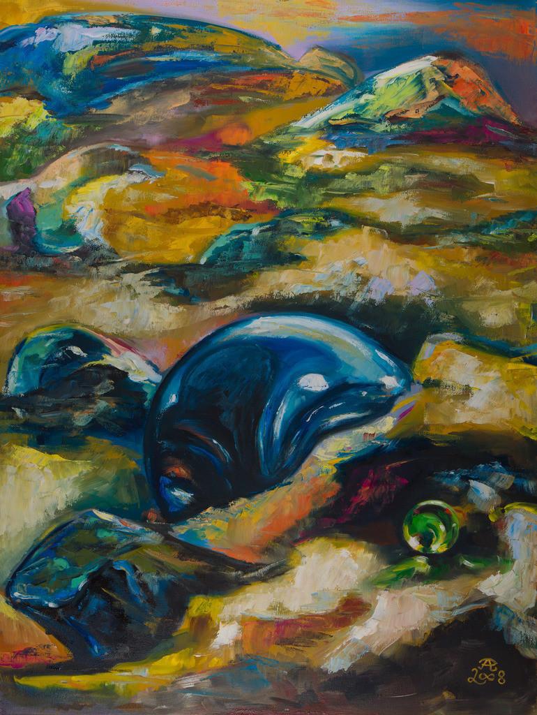 Sand und Glas | Originalformat: 80x60cm  -  Produktionsjahr:  2008
