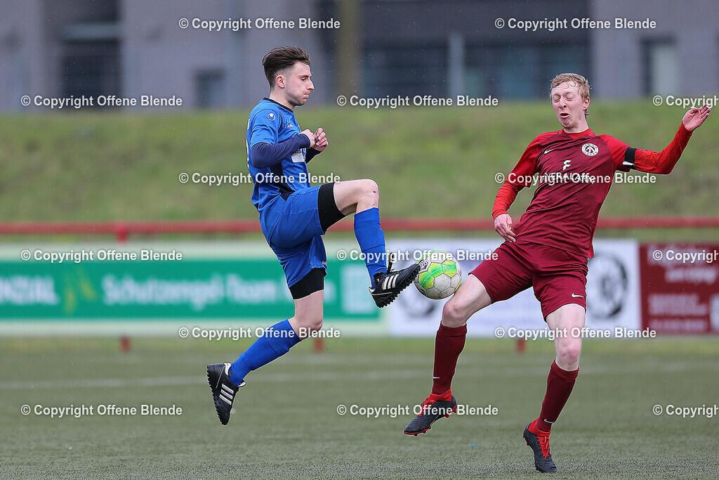 SP2020-03-08 FB Arminia Ickern - FC Frohlinde II Foto Lukas 030 | Arminia Ickern - FC Frohlinde II 2:2 (1:1) - Frohlindes Tim Kuit gegen Thpomas Welskopf
