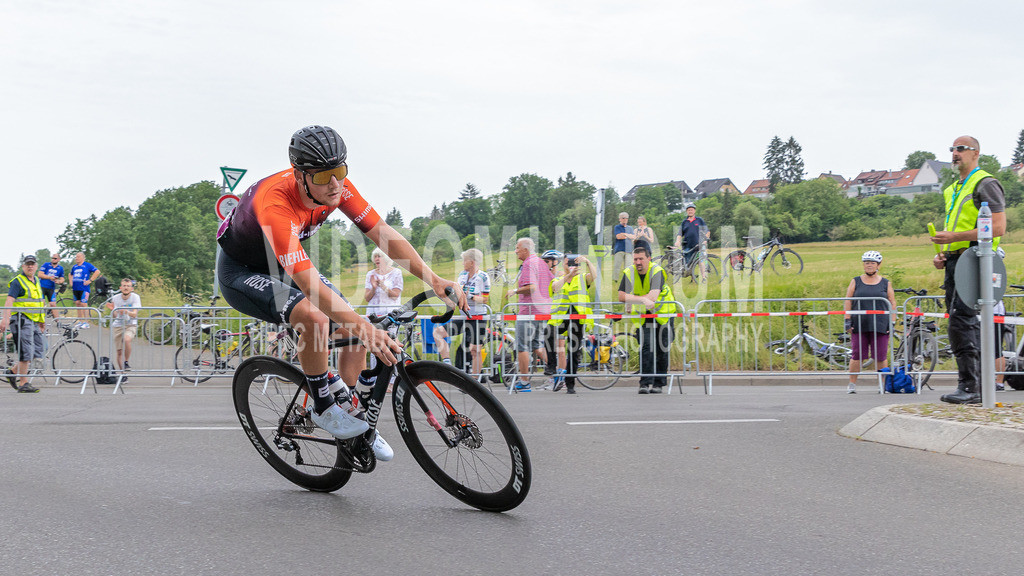 Stuttgart, Germany - June 19, 2021: Deutsche Straßenradmeisterschaften 2021, Straßenrennen, Männer | Stuttgart, Germany - June 19, 2021: Deutsche Straßenradmeisterschaften 2021, Straßenrennen, Männer, Henrik Pakalski (RAD-NET ROSE TEAM), Photo: videomundum