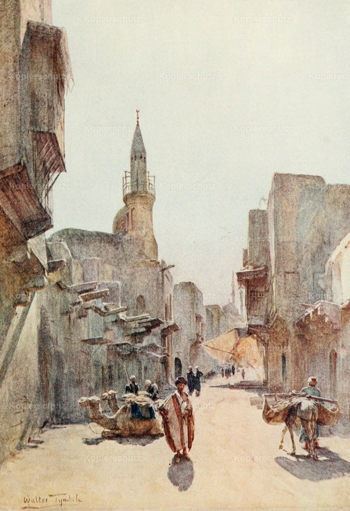 Tyndale_ W. (1855-1943) - Below the Cataracts 1907 - A street near the Citadel_ Cairo