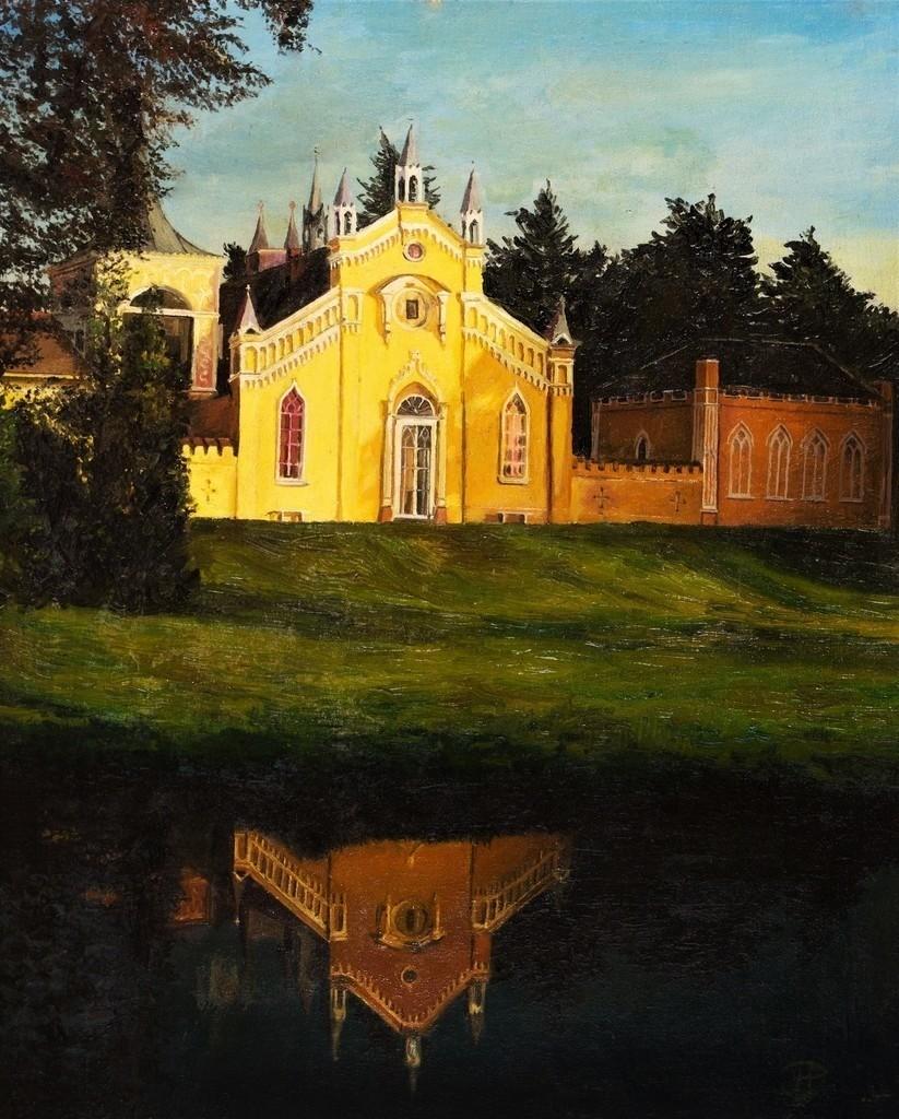 Schlosspark Wörlitz | Originalformat: 70x50cm  -   Produktionsjahr: 1987