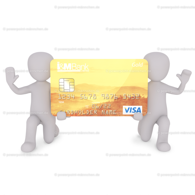 men holding a credit card VISA | Quelle: https://3dman.eu   Jetzt 250 Bilder kostenlos sichern