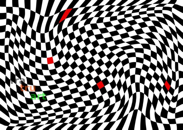 vier rote quadrate