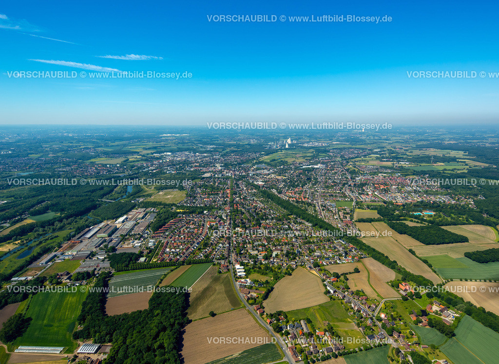 Luenen15061536 | Blick auf Lünen vom Osten gesehen, Lünen, Ruhrgebiet, Nordrhein-Westfalen, Deutschland