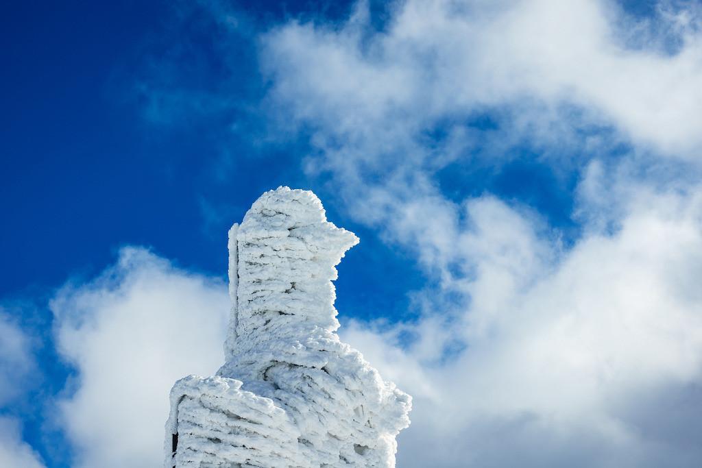 Detail eines Gebäudes auf der Schneekoppe im Riesengebirge in Tschechien | Detail eines Gebäudes auf der Schneekoppe im Riesengebirge in Tschechien.