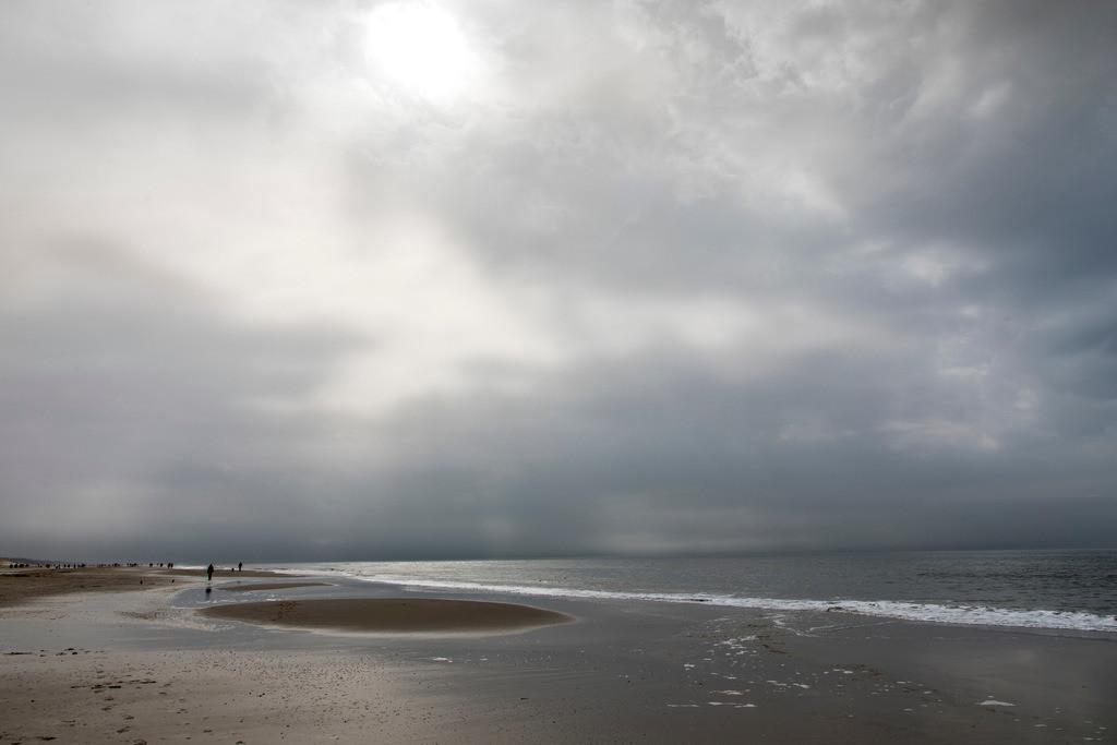 JT-180328-158 | Meeresboden, bei Ebbe, Nordsee, Sandstrand, Egmond aan Zee, Nordholland, Niederlande,