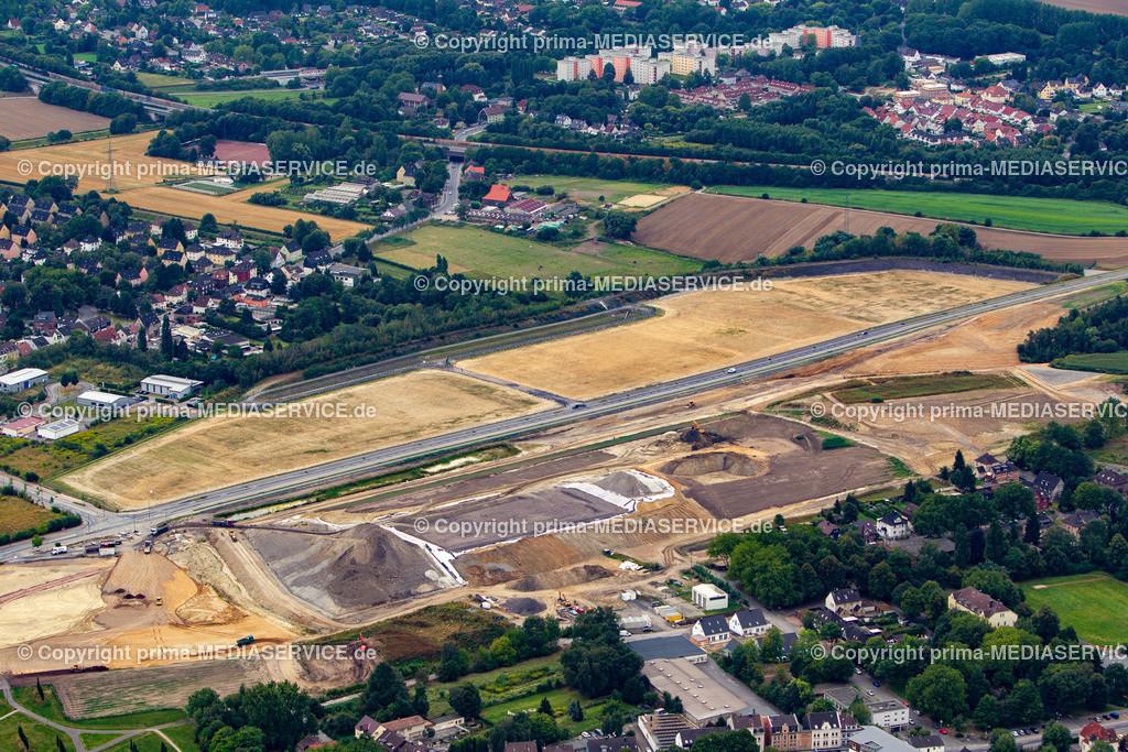 2012-08-28 Fotoflug Dortmund | Luftbildflug Dienstag, 28. August 2012 Deutschland, Nordrhein-Westfalen, Dortmund, Derne. Baugelände des geplanten Autohofes. Foto: Michael Printz / PHOTOZEPPELIN.COM